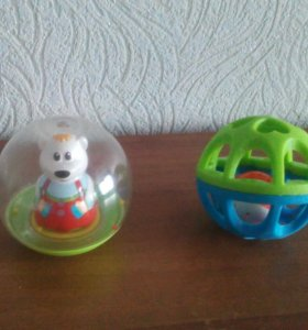 Погремушки и неваляшка шар