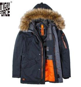 Мужская Аляска новая  зимняя куртка парка