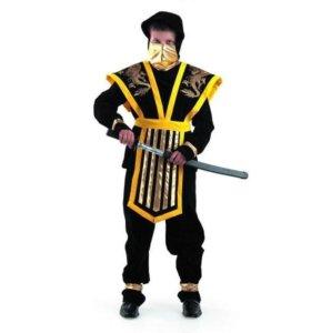 Велюровый костюм Ниндзя Золотой