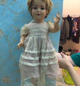 Старинная кукла из папье-маше Германия 1950-1960 г