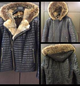 Мужская зимняя кожаная куртка VERICCI.
