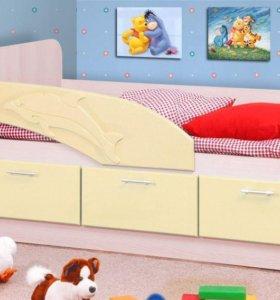 Детская кровать Дельфин в 4 цветах. В наличии