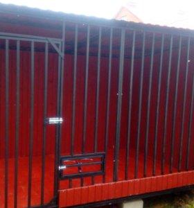 Вольер для собаки 2х3 м с ветрозащитой