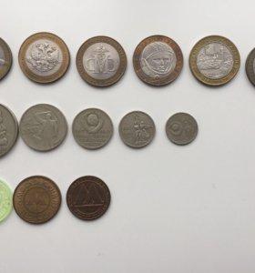 Юбилейные, редкие Монеты 1929-1999гг.