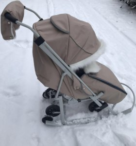 Санки-коляска со стразами Pikate Snowman (НОВЫЕ)