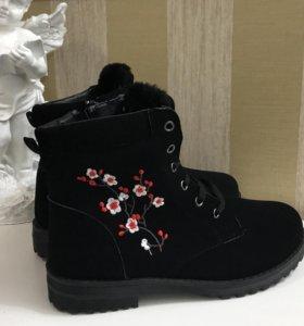 Ботинки зимние 37, 39, новые