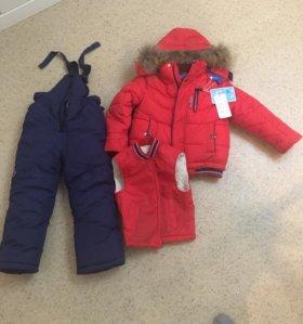 Комплект зимней куртки на мальчика