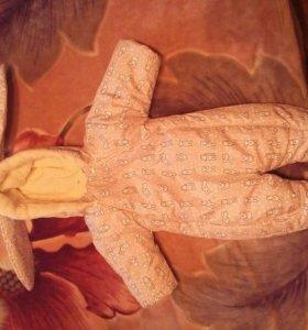 Детский комбинезон с конвертом и шапкой