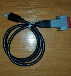 HDMI кабель 1 метр с переходником