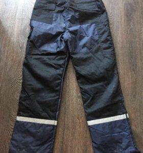 Ватные штаны синие Solo