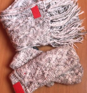 Комплект ( шапка, шарф, Варежки)