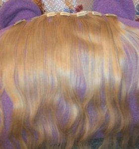 Волосы натуральные на трессах 70 см