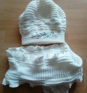 Шапка,шарф зима