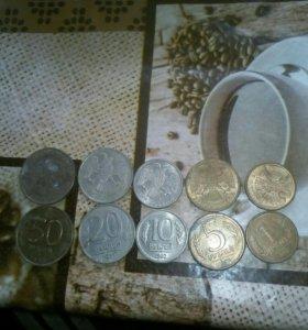 Продам старые русские монеты цена 50 р. За набор