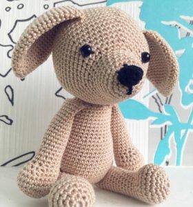 Собака амигуруми игрушка