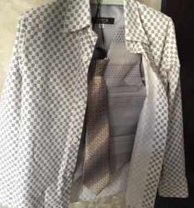 Рубашка,жилетка,галстук