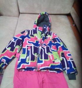 Зимний лыжный комплект (куртка, полукомбинезон)