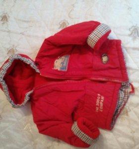 Куртки на девочку р86-92