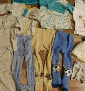Пакет вещей на мальчика и девочку 80-86 от 1 г.