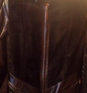 Куртка кожа натуральная телячий мех