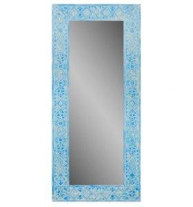 Зеркало в голубой резной раме