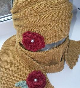 Комплект берет и шарф для девочки