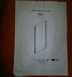Дверь для душевой кабины. Новая