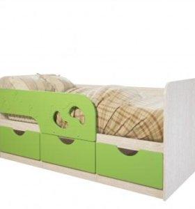 """Новая Детская кровать Минима """"Лего"""" лайм.В наличии"""