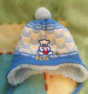 Зимняя шапочка 0-3мес.