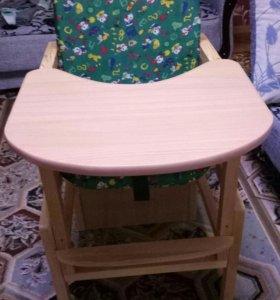 детский стульчик для кормления (деревянный)