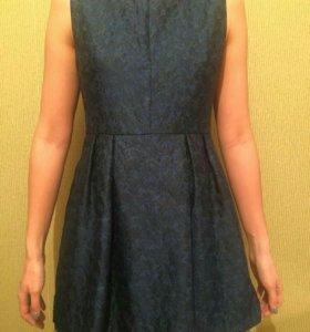 Платье темно -синее
