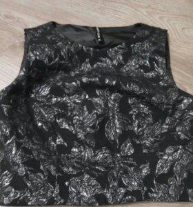 Блузка из жаккарда с цветочным принтом Concept Clu
