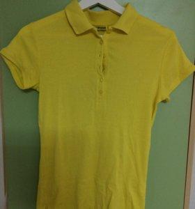 Желтая поло футболка Терранова M-S
