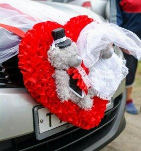 Свадебное оформление на машину