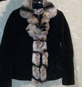 Куртка натуральный мех и натуральная замша