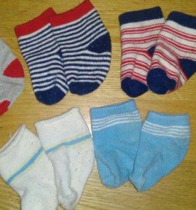 Детская одежда. Носки детские 0-6 мес