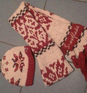 Комплект детский шарф+ шапка зима - осень