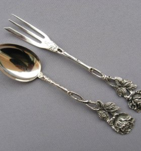 Чайно-десертный набор серебро 835-й пробы 29,5 гр.