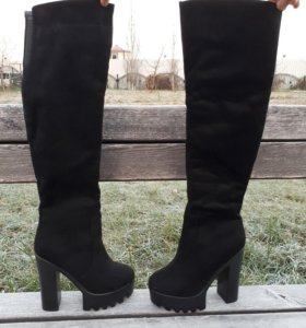 Новые зимние ботфорты, натуральные