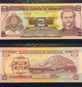 Банкнота 2 лимперы, Гондурас, 2006г, UNC
