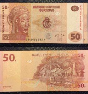 Банкнота 50 франков, Конго, 2013г, UNC