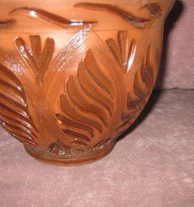 Горшок для цветов керамика объем 1.5л