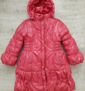 Зимний пуховик пальто рост 122 на 6-7-8 лет