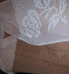 Ажурный шарф ручной вязки