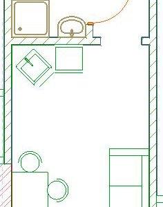 Квартира, 1 комната, 15.4 м²