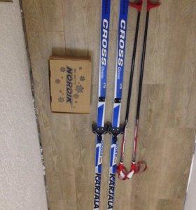 Лыжи и лыжные палки
