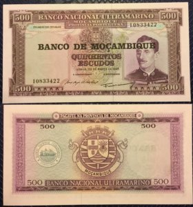 Банкнота 500 эскудо, Мозамбик, 1976г, UNC