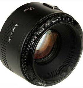 Объектив Canon 50 mm f1/8 II