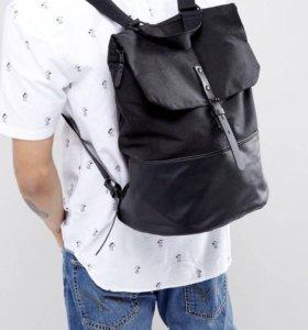 Рюкзак со вставками из искусственной кожи