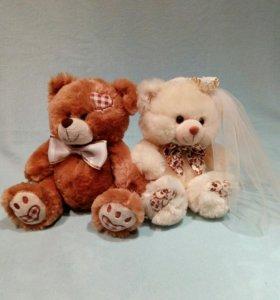 Мишки для украшения свадебного авто